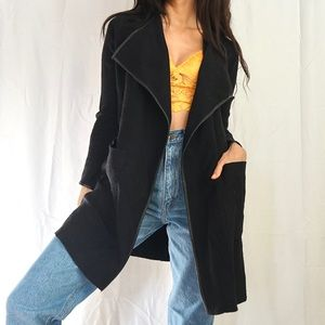 ZARA Long black open cardigan sweater